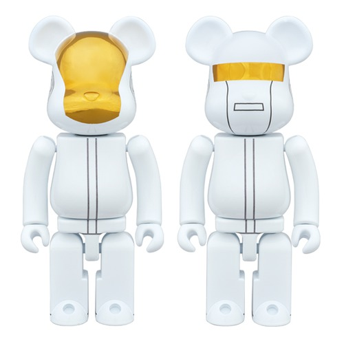 Super alloyed BE@RBRICK DAFT PUNK (WHITE SUITS Ver.) 2 PACK