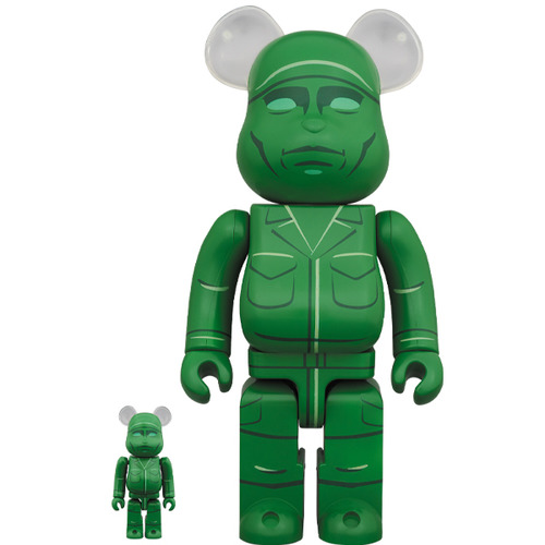 BE@RBRICK GREEN ARMY MEN 100% & 400%《Planned to be shipped in late April 2020》