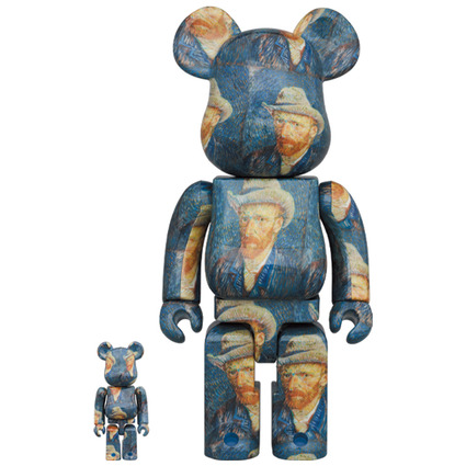 BE@RBRICK「Van Gogh Museum」Self-Portrait with Grey Felt Hat 100% & 400%《Planned to be shipped in late December 2020》