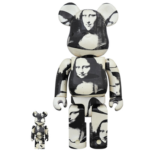 "BE@RBRICK ANDY WARHOL ""Double Mona Lisa"" 100% & 400%"