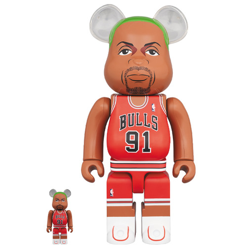 BE@RBRICK Dennis Rodman(Chicago Bulls) 100% & 400%《Planned to be shipped in late August 2020》