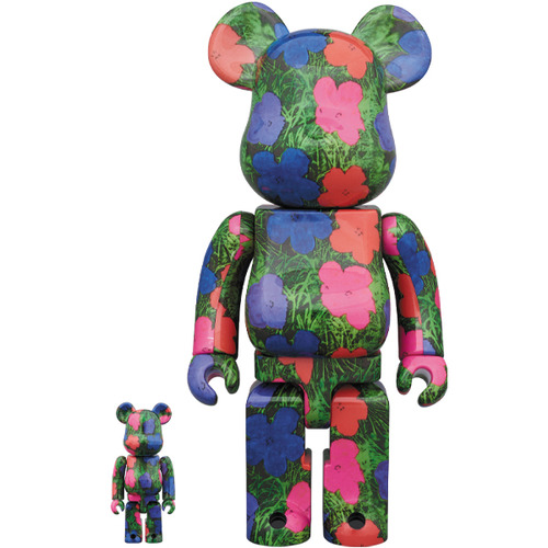 "BE@RBRICK ANDY WARHOL ""Flowers"" 100% & 400%《Planned to be shipped in late March 2020》"