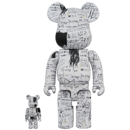 BE@RBRICK JEAN-MICHEL BASQUIAT #3 100% & 400%《Planned to be shipped in late June 2019》