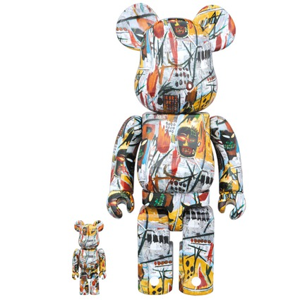 BE@RBRICK JEAN-MICHEL BASQUIAT 100% & 400%《Planned to be shipped in late December 2017》