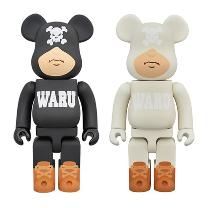 BE@RBRICK TOKYO TRIBE WARU 400% BLACK/WHITE《Planned to be shipped in late October 2018》