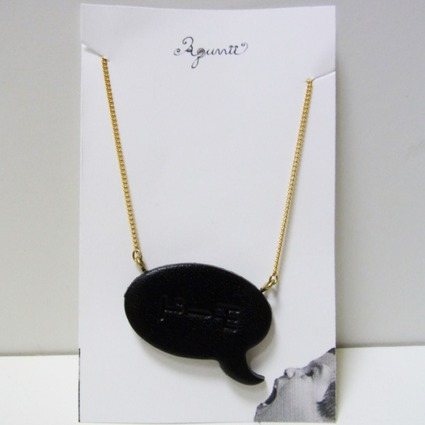 speech balloon series/Necklace/BLK=Doomo // Accessories / Tableware