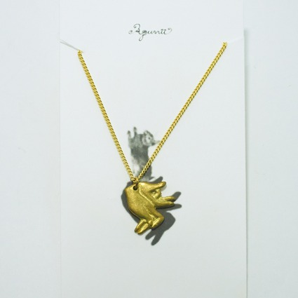 hand shadow necklace / rabbit // Accessories / Tableware