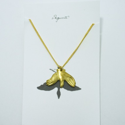 hand shadow necklace / pigeon // Accessories / Tableware