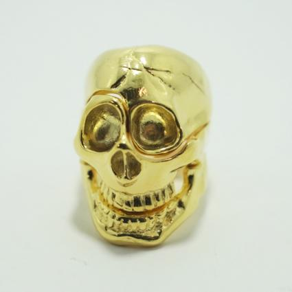 skull parts ring / Gold // Aquvii