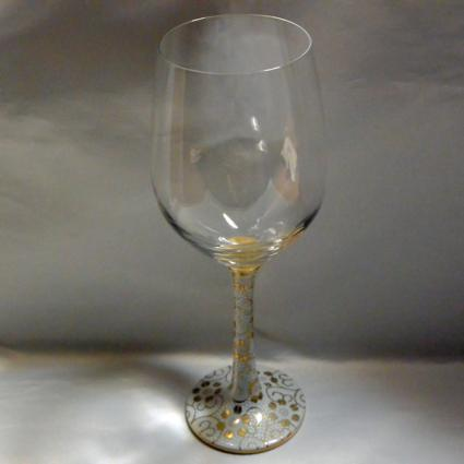 [Kutani Wine Glass][Red Wine] Shirochibu