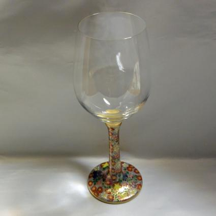 [Kutani Wine Glass][Red Wine]Jyouhanazume by Saeki Shinpei