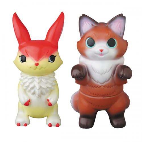 Mimira(Short cake) + Fluffy Negora(chocolate cake)(MEDICOM TOY exclusive color)