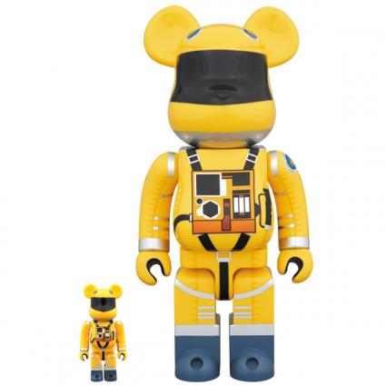 BE@RBRICK SPACE SUIT YELLOW Ver.100% & 400%《Planned to be shipped in late May 2019》