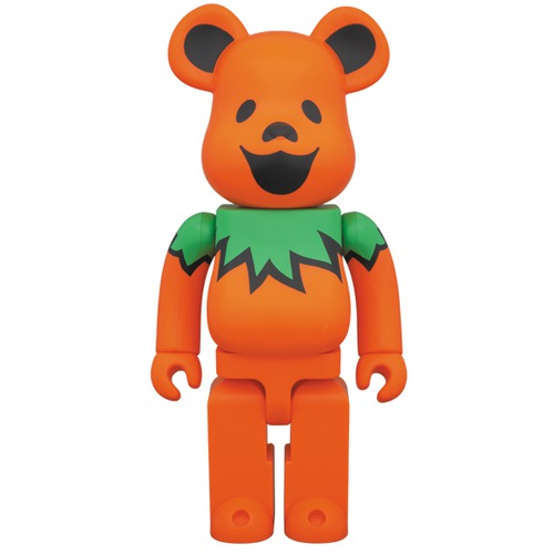 BE@RBRICK GRATEFUL DEAD DANCING BEARS ORANGE 400%