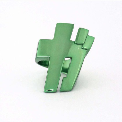 SFX ring「GA」 color GREEN【Pre-Order】 // RGB Laboratory