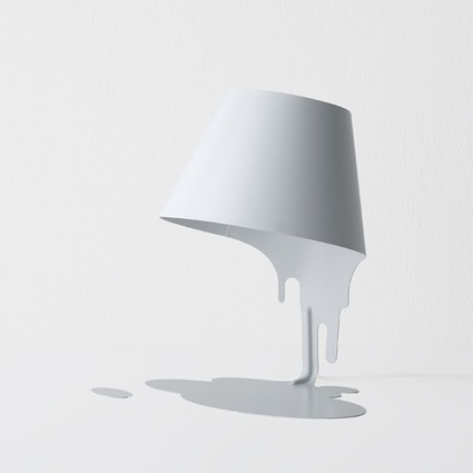 Liquid Lamp table white // kyouei design