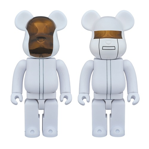 BE@RBRICK DAFT PUNK (WHITE SUITS Ver.) 2 PACK GUY-MANUEL de HOMEM-CHRISTO/ THOMAS BANGALTER 400%