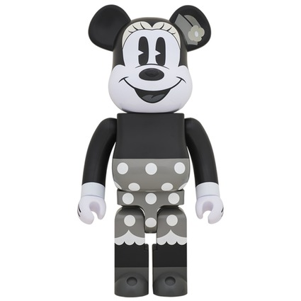 BE@RBRICK MINNIE MOUSE (B&W Ver.) 1000%