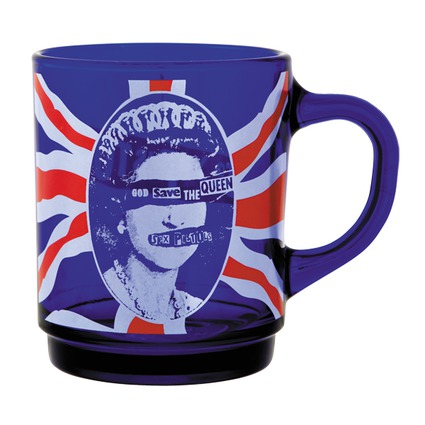 MLE SEX PISTOLS GOD SAVE THE QUEEN GLASS MUG