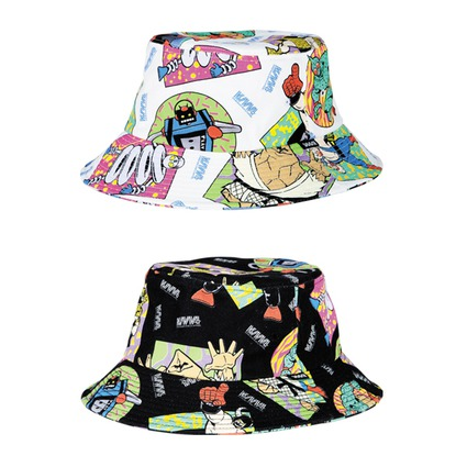 MLE KINNIKUMAN シリーズ KINNIKUMAN BUCKET HAT WHITE/BLACK