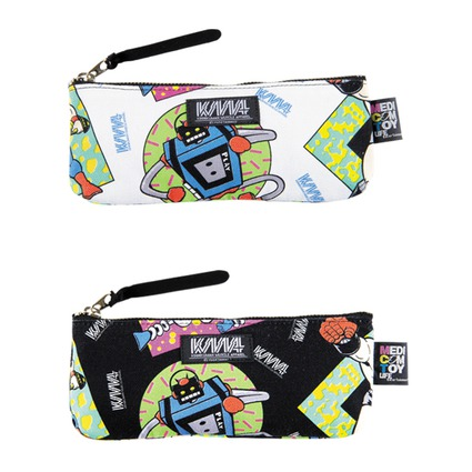 MLE KINNIKUMAN シリーズ KINNIKUMAN PEN CASE WHITE/BLACK