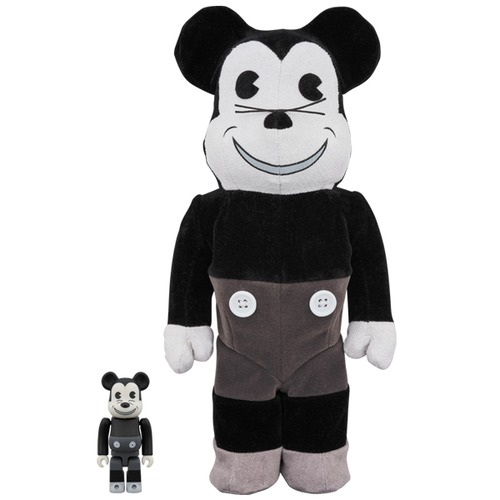 BE@RBRICK MICKEY MOUSE (VINTAGE B&W Ver.) 100% & 400%