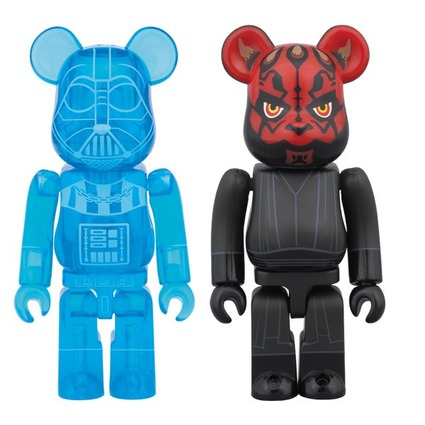 DARTH VADER(TM)(HOLOGRAPHIC Ver.) & DARTH MAUL(TM) BE@RBRICK STAR WARS 2PACK