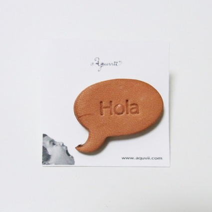speech balloon series / Pierce / TAN=Hola // Aquvii