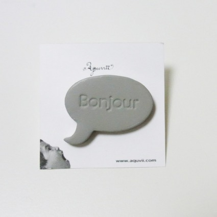 speech balloon series / Pierce / GRY=bonjour // Aquvii