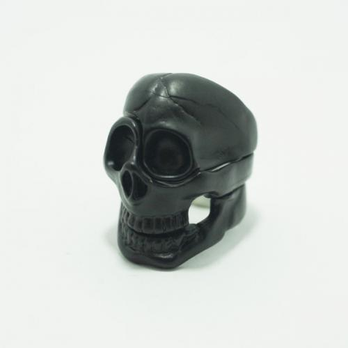 skull parts ring / Black // Aquvii