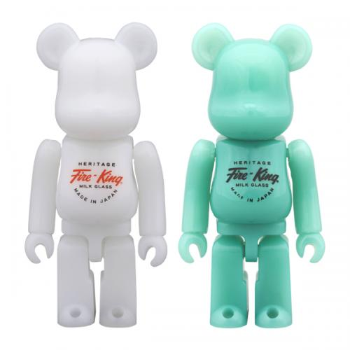 BE@RBRICK Fire-King 100%(WHITE / JADE-ITE)