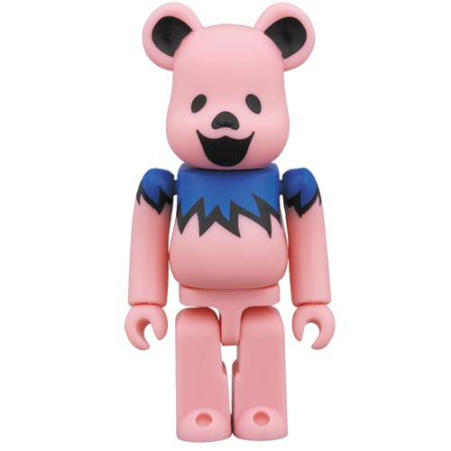 BE@RBRICK GRATEFUL DEAD DANCING BEARS PINK 100%