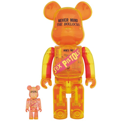 BE@RBRICK Sex Pistols Clear Ver.100% & 400%