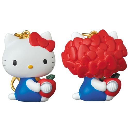 KEYCHAIN UNDERCOVER HELLO KITTY WITH GILAPPLE ノーマルフェイス/リボンフェイス