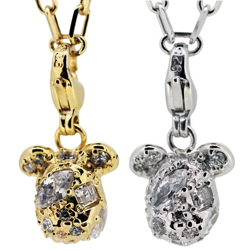 STARDUST BE@RBRICK 3CHARM PENDANT GOLD/SILVER