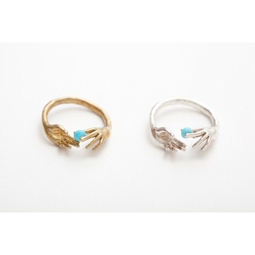 throw into the sea ring / silver // Aquvii
